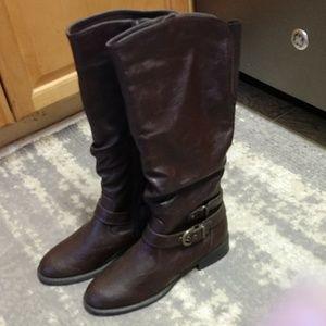 White Mountain sz.7 oxblood riding boots,NWT